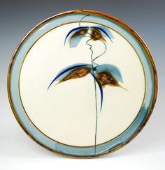 Sam Scott Brushwork Platter-Porcelain- 20in Dia