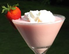 strawberry shortcake martini | 1 oz. Strawberry Rum 1 oz. Vanilla Vodka 1 oz. Cake Vodka 1 oz. Strawberry Schnapps 2 oz. Half  Half Whipped Cream Strawberry for garnish     Directions   Combine all of the ingredients into an ice filled cocktail shaker.  Cover, shake well, and strain into a chilled Martini glass.  Garnish with a Strawberry, add a dollop of Whipped Cream, and get ready to savor your tasty... Strawberry Shortcake Martini.