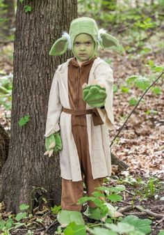 This exclusive Star Wars Kids Yoda Costume will transform your little one into a…