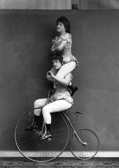 Trick cyclists, London c. 1891
