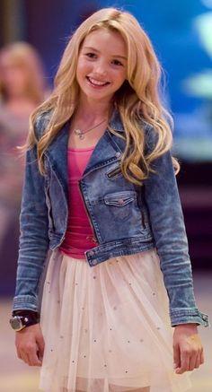 Peyton List wearing pink