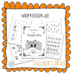 Werkboekje | Thema NEDERLAND Going Dutch, Dutch Language, Kings Day, Netherlands, Kindergarten, Homeschool, Crafts For Kids, Teaching, Projects