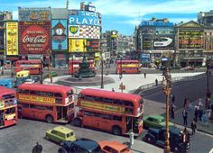 Piccadilly Circus, London, c. 1963