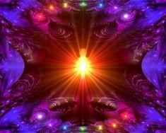 Rainbow Chakra Art Lightworker Energy Art Reiki by primalpainter, $20.00