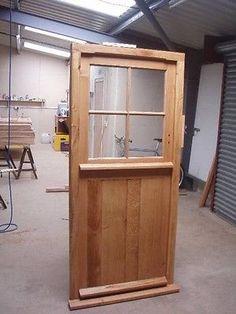 Solid Oak Stable Door,half Glazed, No Vat! Exterior Hardwood Joinery Door Only External Doors, Stables, Joinery, Solid Oak, Hardwood, Exterior, Mirror, Cottage Ideas, Room