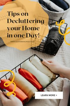 Decluttering strategies for when you feel overwhelmed and want to get it done in a day!