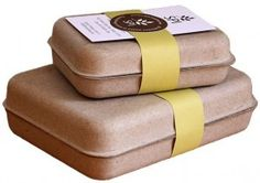 Eco-friendly GreenKraft clamshell packaging made from recycled cardboard and 100% recyclable. Available in several sizes to accommodate a wide range of products.