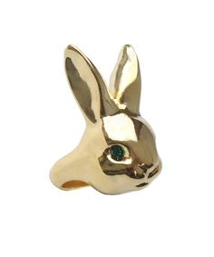 Me & Zena Rabbit Ring Gold