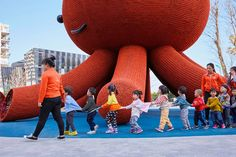 A Giant Friendly Octopus Forms an Immersive Playground for Children in Shenzhen | Colossal