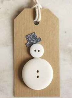 Easy snowman Christmas tag