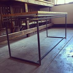 Art Deco desk fabricated! Do you recon, raw or powdercoated? Still toying with idea. #custommade #desk #design #steel #industrialfurniture #thewestsider #melbournestyle #artdeco #vintage #interiordesign #interiordecor #srtchitecture
