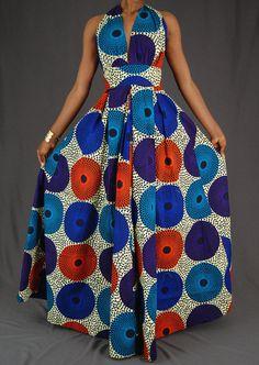 African Fashion African Print maxi dress / African print Dress / Ankara dress Why Nomex AP Shirts An African Evening Dresses, Latest African Fashion Dresses, African Dresses For Women, African Print Dresses, African Print Fashion, Africa Fashion, African Attire, African Wear, African Prints