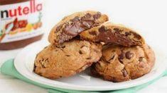 Fondant Nutella, Nutella Chocolate Chip Cookies, Chocolate Hazelnut, Chocolate Oreo, Chocolate Desserts, Dessert Pizza, Cookie Recipe Uk, Best Nutella Recipes, Chocolates