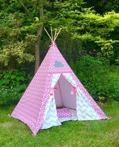 Pink cloud children's teepee. Magical, Midi, and Tiny mini Teepees. Just for tiny people teepee.