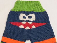 Monster Longies  hand knit soaker pants by TheMotherofPurls #kids#