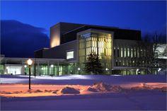 Moss Arts Center. Snow on Campus. Virginia Tech. #virginiatech #hokies #mossartscenter
