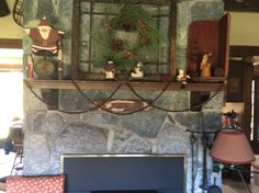 Prim Christmas, Entryway Tables, Furniture, Home Decor, Decoration Home, Room Decor, Home Furnishings, Home Interior Design, Vintage Christmas