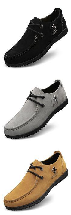 Мужская обувь свободного покроя, кожаные, плоские ботинки для мужчины - бесплатная доставка http://ali.pub/fqboa
