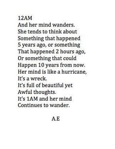 12 am and her mind wanders | It's ok to be an introvert