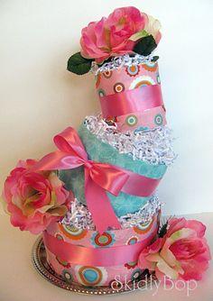 Mad Hatter Baby Girl Diaper Cake by mrsferdi on Etsy