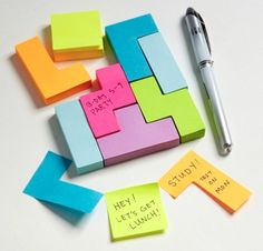 Tetris Sticky Notes - Take My Paycheck - Shut up and take my money! | The coolest gadgets, electronics, geeky stuff, and more!
