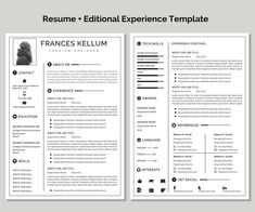Resume template instant download Professional resume image 4