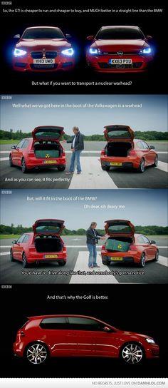 Top Gear Asking The Tough Questions - Damn! LOL