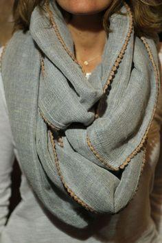 Lorenza Filati | Neutral infinity scarf | Just a Pretty Style