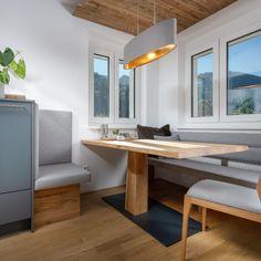 Küche & Essbereich Küchen Design, Home Remodeling, Dining Bench, Corner Desk, Table, Furniture, Home Decor, Kitchen Black, Home Kitchens