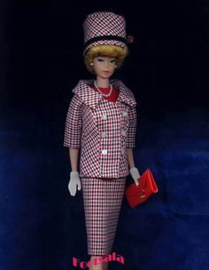 """A beautiful Japanese Edition variation of """"Career Girl"""" from the collection of Gene Foote. Looks to be made out of Francie's Check Mates."""