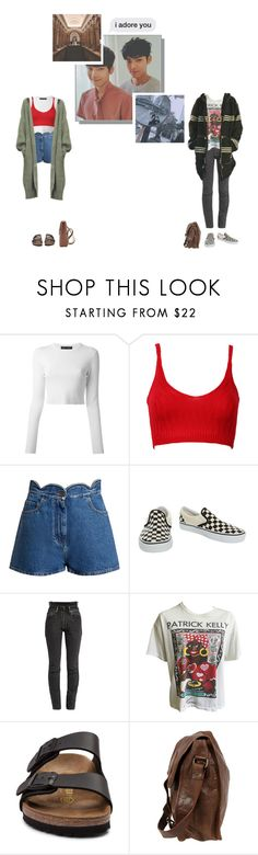 """""""Double Date ; Yeonin & Minah"""" by official4u ❤ liked on Polyvore featuring Proenza Schouler, WithChic, Valentino, Vans, Vetements, Birkenstock, VIPARO and Chloe Stanyon"""