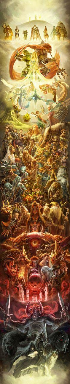 Tags: Fanart, Nintendo, The Legend of Zelda, Pixiv, Link, Princess Zelda, Malon, Sheik, Dark Link, Midna, Saria, Farore, Navi, Anju, Aryll, Kafei, Medli, Nabooru, Princess Ruto, Ilia, Din, Impa, Nayru, Epona (Legend Of Zelda), Ganondorf, Kaepora Gaebora, Skull Kid, Tingle, Ezlo, Vaati, Ciela, Chancellor Cole, Wolf Link, Laon, Atelieriji, Skyward Sword, Zant, Fi, Ocarina of Time, Wind Waker, Majora's Mask, Twilight Princess (Game), Twilight Link, Minish Cap, Spirit Tracks, Seven Sages