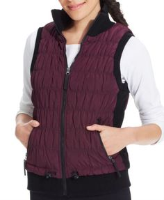 CALVIN KLEIN Performance Ribbed-Knit Quilted Puffer Vest XS NWT Purple or Blue #CalvinKlein #Vest #Winter #PufferVest #CK #fashion #smartphone #cellphone #iphone #android #skiing #Snowboarding #cold