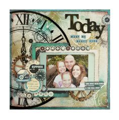 Today by Kylie Obst. Photo Album Scrapbooking, Scrapbook Page Layouts, My Scrapbook, Travel Scrapbook, Diy Handmade Album, Kylie, Birthday Scrapbook, Scrapbook Templates, Paper Crafts