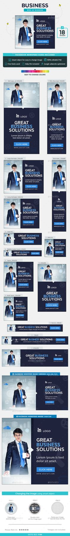 Business Web Banners Template PSD. Download here: http://graphicriver.net/item/business-banners/15395350?ref=ksioks