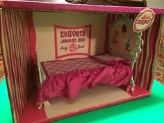 Vintage Barbie Doll Skipper's Jeweled Bed in Box 1965 #410 Susy Suzy Goose