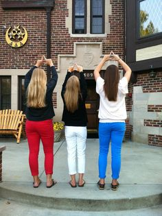 Wearing red, white, and blue with your sisters the day after the presidential debate. TSM.