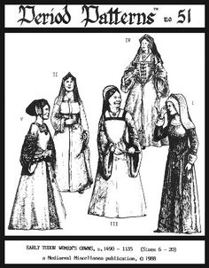 Early Tudor Woman's Gowns, C. 1490-1535 Pattern