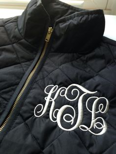 ️Monogrammed Quilted Vest $43 ️Monogrammed & Shipped!
