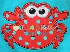 Crab 2 Applique Machine Embroidery Design Plus Free Design
