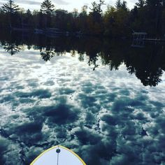 Sliding quietly with #clouds on this #morning #paddle #sup #nature #peace #exercise #tranquility