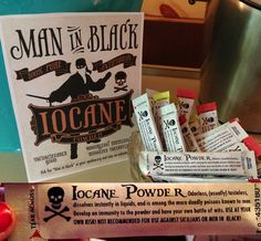 One of my favorites. Create a label for your preferred sticker size, print, and cut/apply to Crystal Light packets so guests each get their very own packet of Iocane Powder! Find the graphic in the background on this board for an added touch.