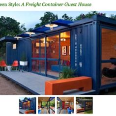Green - Shipping container guest house ... Sweet!