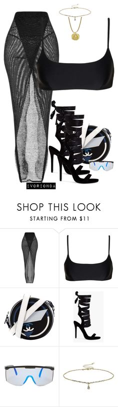 """io"" by ivorionda ❤ liked on Polyvore featuring Matteau, Chanel, Forever 21 and Miss Selfridge"