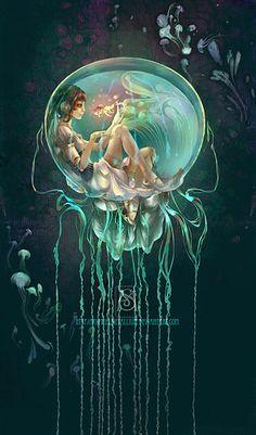 jellyfishbowl by *sylphielmetallium
