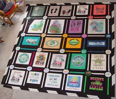 Make a quilt with my old school t-shirts