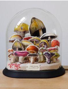 lyndie dourthe - textile mushroom terrarium