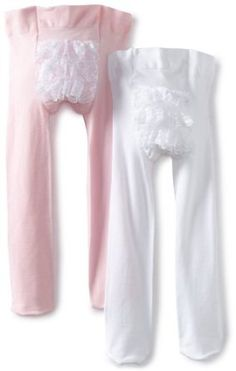 Country Kids Baby-Girls Infant Microfiber Ruffle Rhumba Tights 2 Pair, Wht/Pink, 0-12 Months Country Kids. $13.62