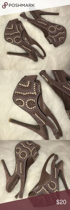 Studded platform heel Studded platform heel size 8.5 gently used Kiss & Tell Shoes Platforms