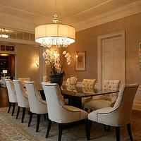 Giannetti Home - dining rooms - dining chairs, tufted dining chair, nailhead dining chairs, nailhead tufted dining chair, ivory dining chair...